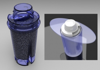 industrial design in israel, industrial design, Water purifying filter design